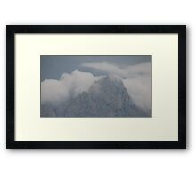 Clouds over the Organs Framed Print