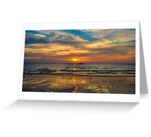 Two Suns in the Sunset Greeting Card