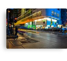 Mong Kok Bus Rush Canvas Print
