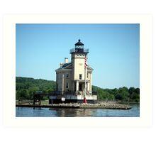 Rondout Lighthouse on the Hudson River Art Print