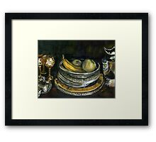 China Cabinet Still Life I (study) Framed Print