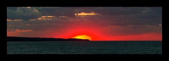 sunset over Aquinnah by Roslyn Lunetta