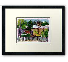 Nundah Sketch Framed Print