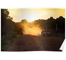 Hummer at Sunset Poster