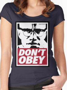 DON'T OBEY Women's Fitted Scoop T-Shirt