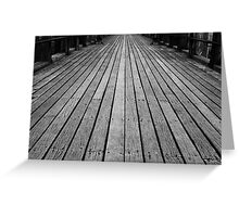 Timber Boards Greeting Card