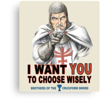Choose Wisely Canvas Print