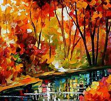 Stream Of Autumn — Buy Now Link - www.etsy.com/listing/211797644 by Leonid  Afremov