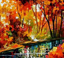 Stream Of Autumn — Buy Now Link - www.etsy.com/listing/211797644 by Leonid  Afremov