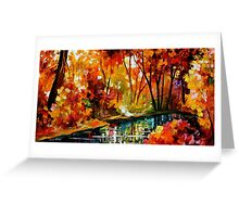 Stream Of Autumn — Buy Now Link - www.etsy.com/listing/211797644 Greeting Card