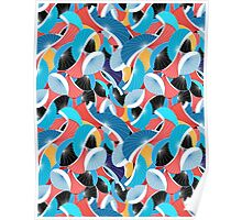 graphic abstract pattern Poster