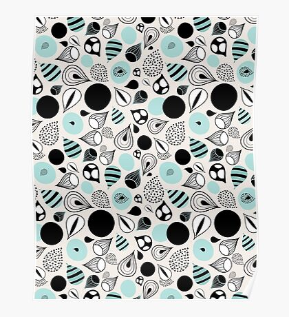 abstract pattern of drops and stains Poster