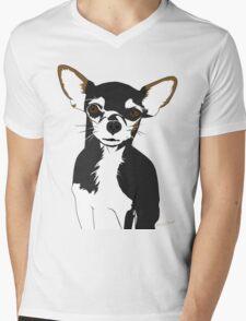 Zoe the Chihuahua Cartoon Portrait Mens V-Neck T-Shirt