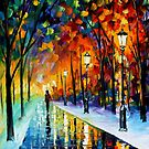 Frozen Night — Buy Now Link - www.etsy.com/listing/171664825 by Leonid  Afremov