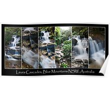 Leura Cascades in The Blue Montains - Collage Poster