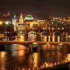 Prague Bridges, Czech Republic by Petr Klapper