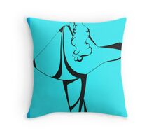 Sweet Sue in Blue Throw Pillow