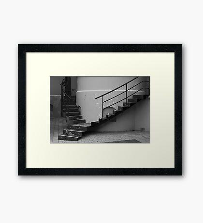 Steps and Peeling Paint - Sydney Hospital Framed Print