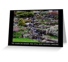 Restful Waters Greeting Card