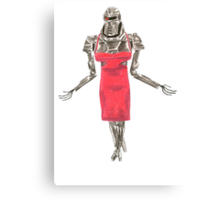 Red Dress Cylon Canvas Print