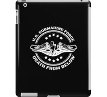 Cool U.S. Submarine Force, Death from Below logo, stars and circle iPad Case/Skin