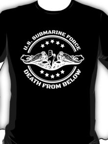 Cool U.S. Submarine Force, Death from Below logo, stars and circle T-Shirt
