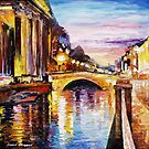 Venice Bridge — Buy Now Link - www.etsy.com/listing/215143942 by Leonid  Afremov
