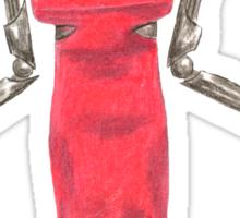 Red Dress Cylon Sticker