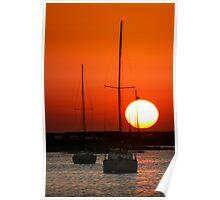 February Sunset Poster