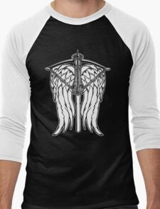Angel Wings and Crossbow (Clean) Men's Baseball ¾ T-Shirt