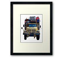 Desert Expedition Truck Framed Print