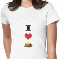 I love chocolate Womens Fitted T-Shirt