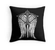 Angel Wings and Crossbow (Dirty) Throw Pillow