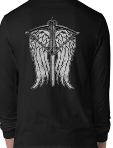 Angel Wings and Crossbow (Dirty) Long Sleeve T-Shirt