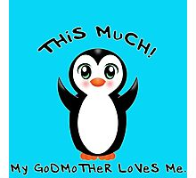 Godmother Loves Me ~ Baby Penguin Photographic Print