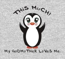 Godmother Loves Me ~ Baby Penguin One Piece - Short Sleeve