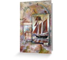 Memories and Old Maps Greeting Card