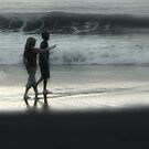 Young Walk on the Beach by Trace Lowe