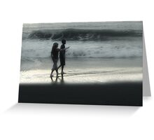Young Walk on the Beach Greeting Card