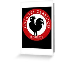 Black Rooster Florence Chianti Classico  Greeting Card