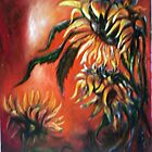 Sunflowers in Red by Lolita Dickinson
