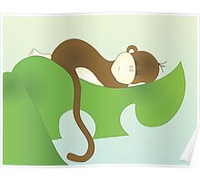 Sleeping Baby Moneky, too! Poster