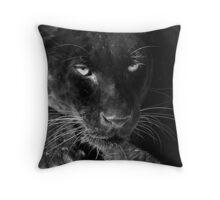 Obsidian - Black Leopard Throw Pillow