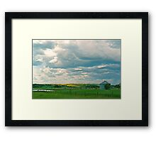 Clouds and Cows Framed Print