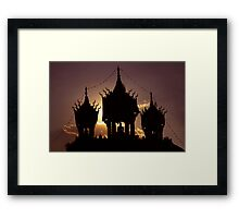 buddha sunset Framed Print