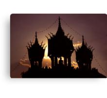 buddha sunset Canvas Print