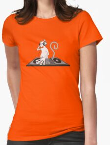 Monkey is a DJ Womens Fitted T-Shirt