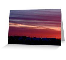 Sunset Above The Ski Hills Greeting Card