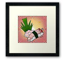 Sushi Finger Framed Print