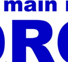 my main is a dragoon Sticker